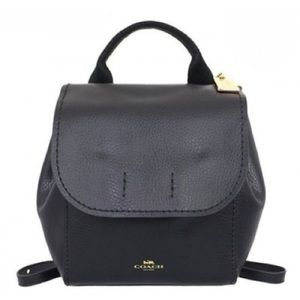 Coach Derby Backpack, Pebble Leather, NEW, Black